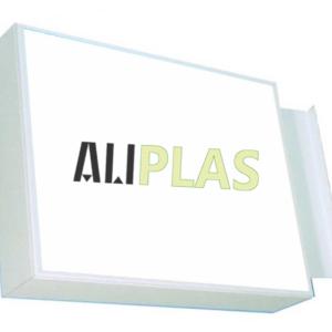 banderola rectangular con luz