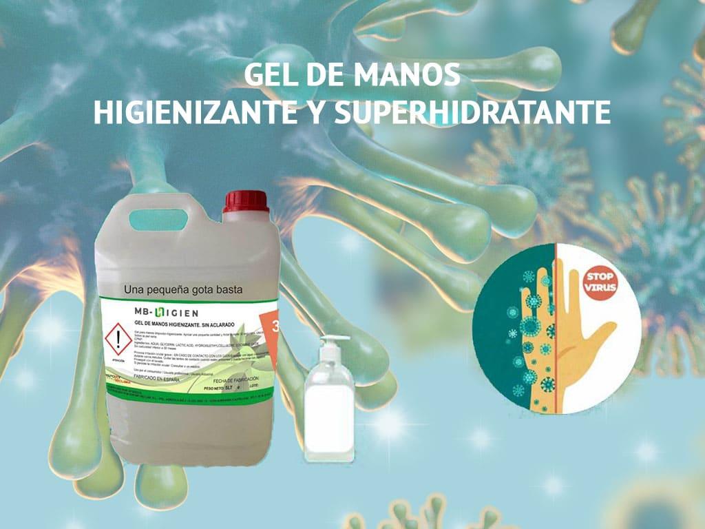 Gel higienizante y superhidratante